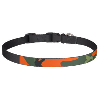 Orange Hunter Camo Pet Collar