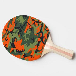 Orange Hunter Camo Ping Pong Paddle