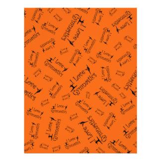 Orange I love gymnastics Personalized Flyer