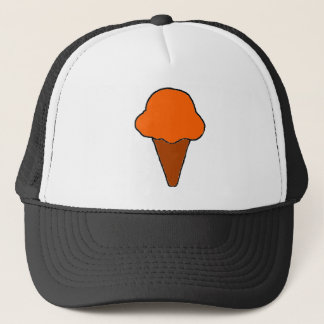 Orange Ice Cream Cone Trucker Hat