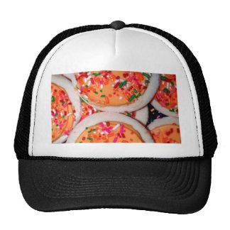 Orange Iced Sugar Cookies Hats