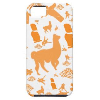 Orange Icons of South America iPhone 5 Cases