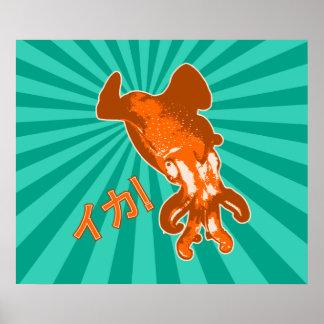Orange Ika Poster