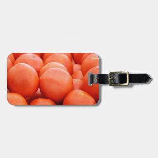 orange in winter luggage tag
