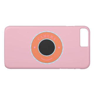 Orange individuality camera & smile iPhone 7 plus case