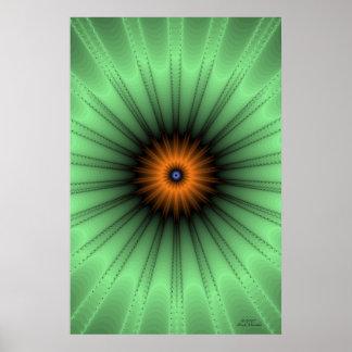 Orange Iris Fractal Print