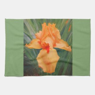 Orange Iris Kitchen Towel