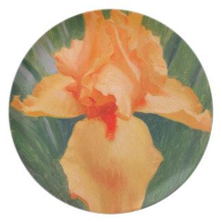 Orange Iris Melamine Plater Plate