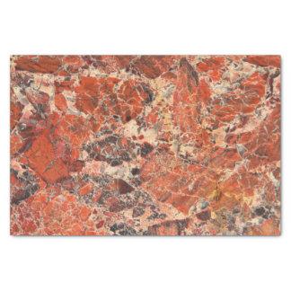 Orange Jasper Stone Pattern Tissue Paper