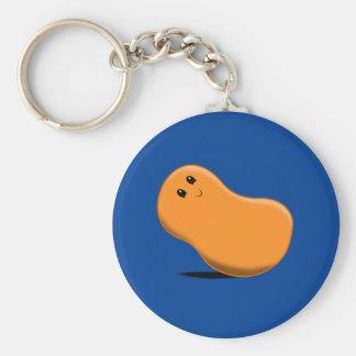 Orange Jellybean Keychain