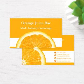 Orange Juice Bar Business Card