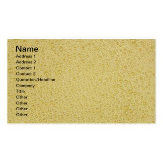 Orange Juice Bubbles Close-Up Backdrop Pack Of Standard Business Cards