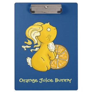 Orange Juice Bunny Clipboard