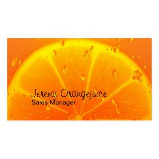 Orange juice business card template