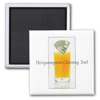 Orange Juice Ho'oponopono Cleaning Tool Square Magnet