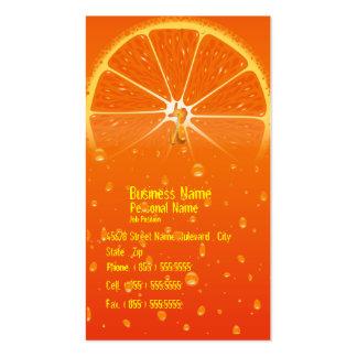 Orange Juice Juicy Drops Friuts Business Card