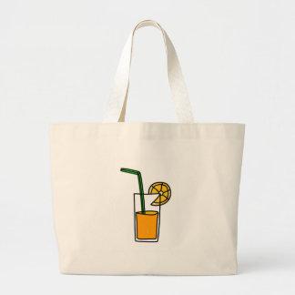 orange juice large tote bag
