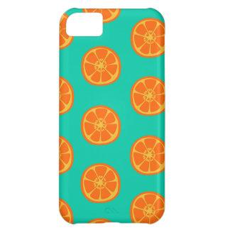 Orange Juice on Teal iPhone 5C Case