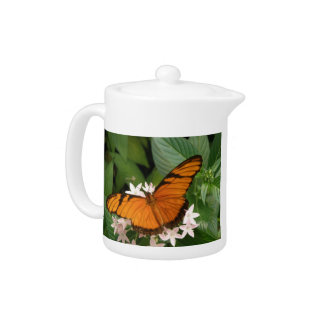 Orange Julia Butterfly Teapot