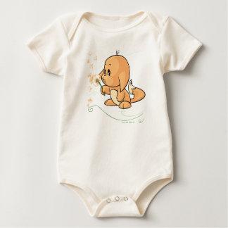 Orange Kacheek wishing on a dandelion Baby Bodysuit