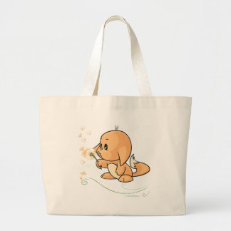 Orange Kacheek wishing on a dandelion Large Tote Bag
