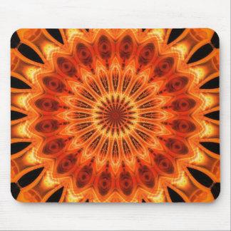 Orange Kaleidoscope 06 Mousepads