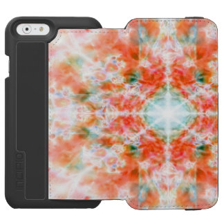 Orange kaleidoscope pattern incipio watson™ iPhone 6 wallet case
