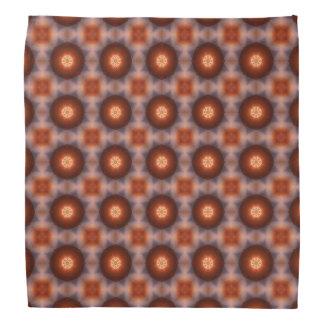 Orange Kaleidoscope Retro Pattern Bandana