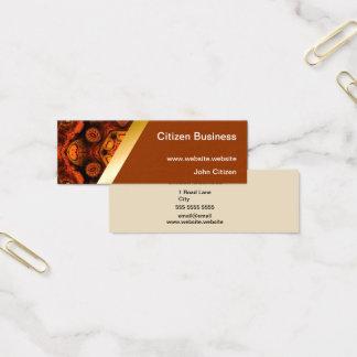 Orange kaleidoscope with brown business card 9