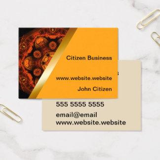 Orange kaleidoscope with yellow business card 4