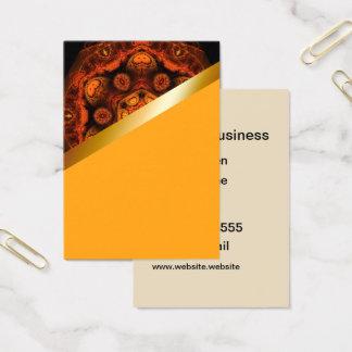 Orange kaleidoscope with yellow business card 7