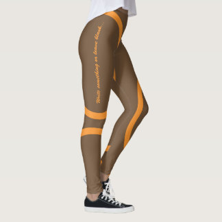 Orange kamon circle leggings