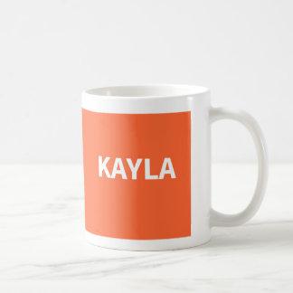 Orange Kayla name Coffee Mug