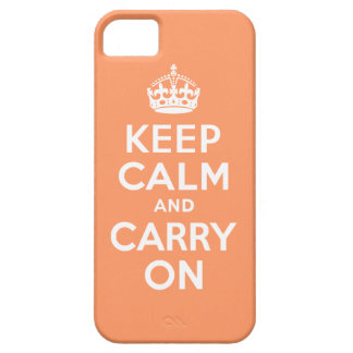 Orange Keep Calm and Carry On Case-Mate Case
