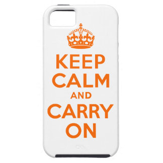 Orange Keep Calm and Carry On Tough iPhone 5 Case