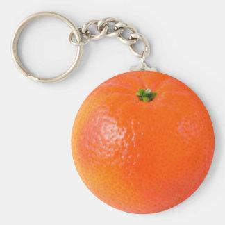 Orange Basic Round Button Key Ring