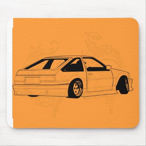 Orange KIS Levin AE86 Mouse Pads