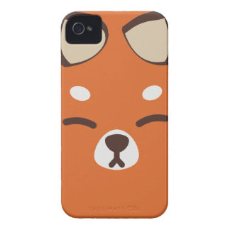 Orange Kitsune Fox iPhone 4 Cover