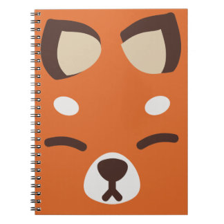 Orange Kitsune Fox Notebooks