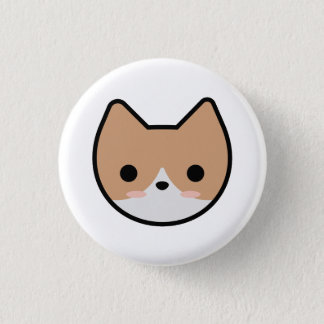 Orange Kitten Button