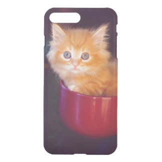 Orange Kitten In A Red Mug iPhone 8 Plus/7 Plus Case