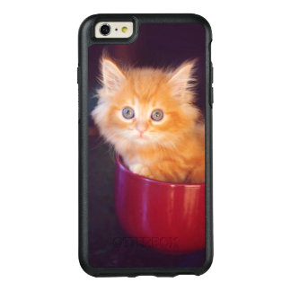 Orange Kitten In A Red Mug OtterBox iPhone 6/6s Plus Case