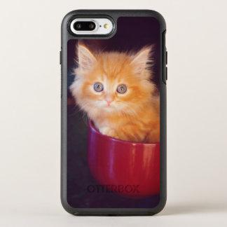 Orange Kitten In A Red Mug OtterBox Symmetry iPhone 8 Plus/7 Plus Case