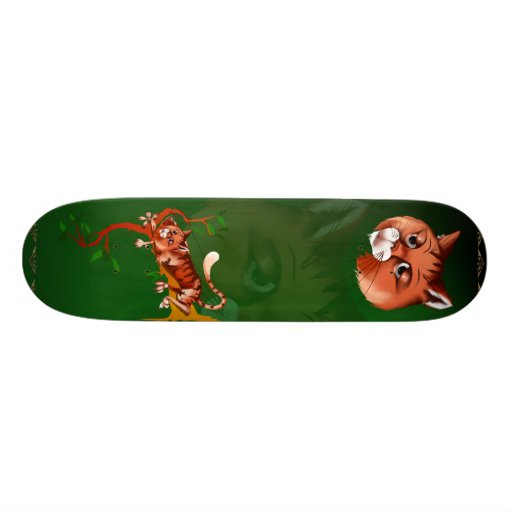Orange Kitty Skateboard