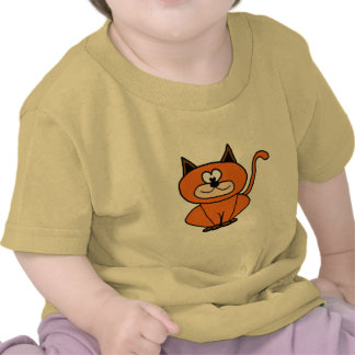 orange kitty tees