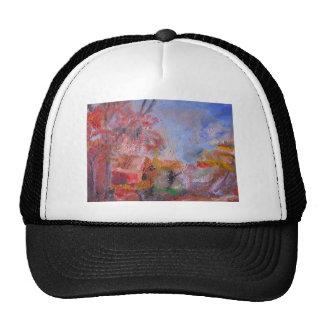 Orange Landscape Trucker Hats