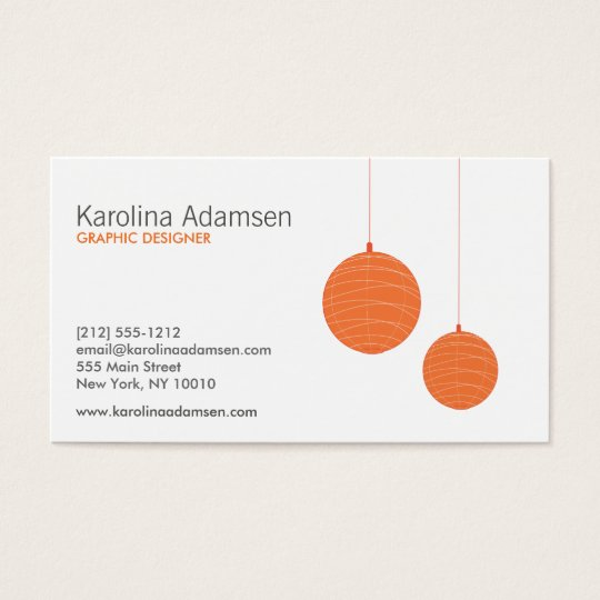 ORANGE LANTERNS BUSINESS CARD