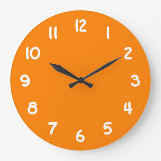Orange Large Clock