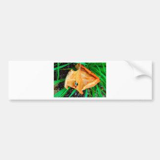 Orange Leaf Bumper Sticker