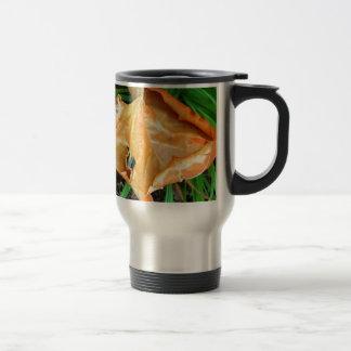 Orange Leaf Stainless Steel Travel Mug